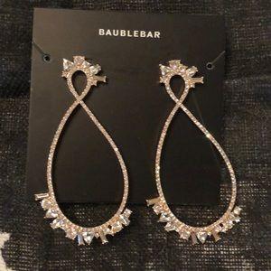 BaubleBar Statement Gold Bling Earrings NWT